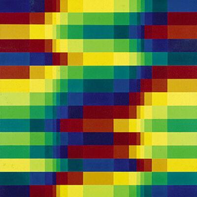 Richard Paul Lohse, 'Quinze rangées systématiques de couleurs au sein d'un système symétrique, 1950/1967', 1950 -1967