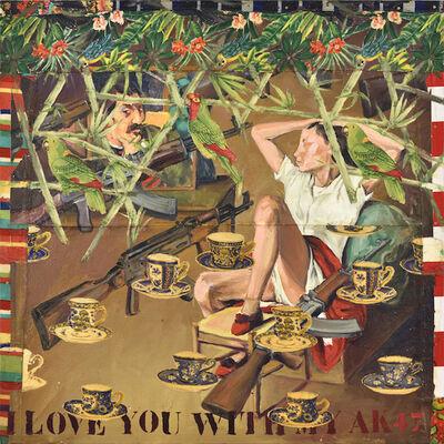Hassan Musa, 'I love you with my AK47 ( D'après Gauguin et Balthus)', 2019