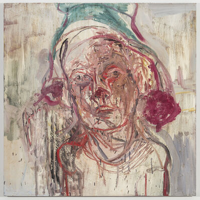 Judy Glantzman, 'Portrait with Green Cap', 1995