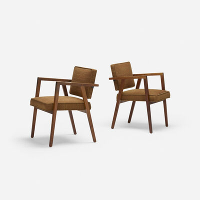 Franco Albini, 'armchairs model 48, pair', 1949