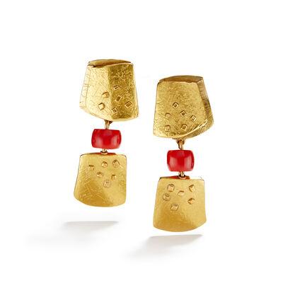 Nancy Michel, 'Red & Gold Earrings', ca. 2016