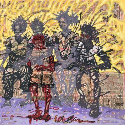 Cedric Tchinan, 'Sur le tronc de l'arbre', 2020