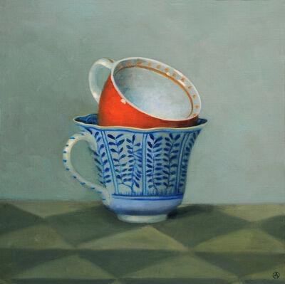 Olga Antonova, 'Red and Blue Teacups', 2010