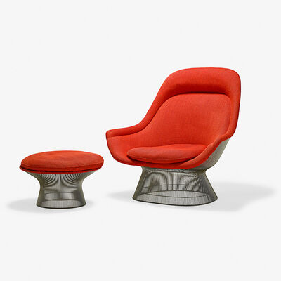 Warren Platner, 'Lounge chair and ottoman, New York'