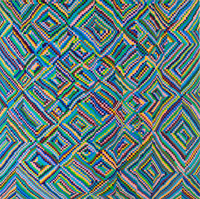 Todd Kelly, 'Grid Painting 1 (Twelve Colors Arranged on a Hand-Drawn Grid)', 2015
