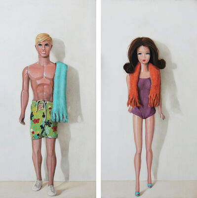 Holly Farrell, 'Malibu Ken and Barbie', 2018
