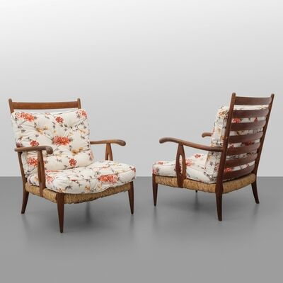 Paolo Buffa, 'A pair of armchairs', early 1950's