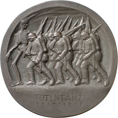 Ludwig Gies, 'Totentanz', 1917