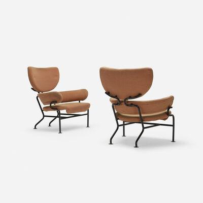 Franco Albini, 'Tre Pezzi lounge chairs, pair', 1957