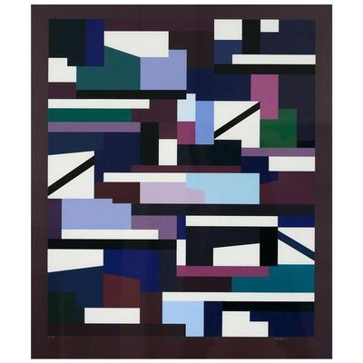 Yaacov Agam, 'Purple Matrix', 1976