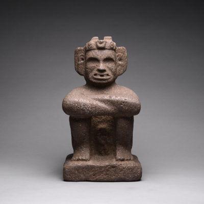 Unknown Pre-Columbian, 'Aztec Stone Sculpture of Xiuhtecuhtli', 1300-1550