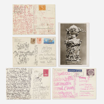 James Lee Byars, 'collection of five postcards mailed to Tommy Longo'