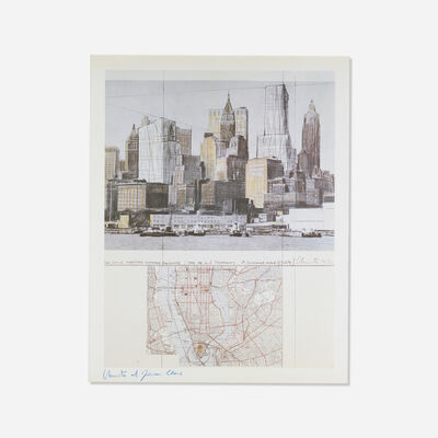 Christo and Jeanne-Claude, 'Two Lower Manhattan Wrapped Buildings, Project for New York City', 1985
