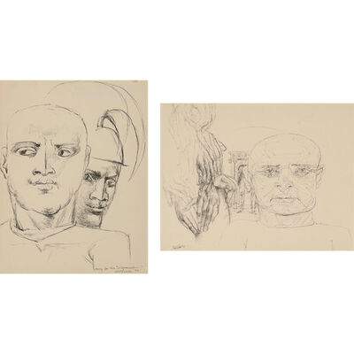 Federico Castellon, '(i) Study for the Judgement; (ii) Untitled'