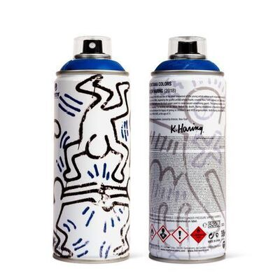 Keith Haring, 'Keith Haring Limited Edition Spray Can Blue Edition Pop Street Art Contemporary ', 2018