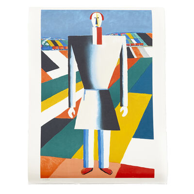 """Kasimir Severinovich Malevich, '""""Peasant in the Fields"""" Lithography', 1992"""