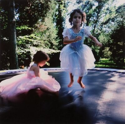 Nan Goldin, 'Lily and Isabel on Trampoline', 1996