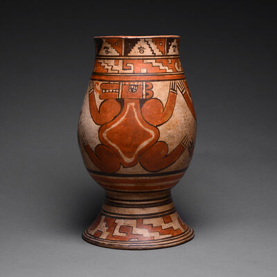 Pre-Columbian, Art of Costa Rica, 'Papagayo Vessel with Reptile Motif', ca. 1000-1550 AD