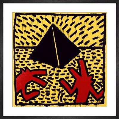 Keith Haring, 'Untitled (red dogs with pyramid)', 2003