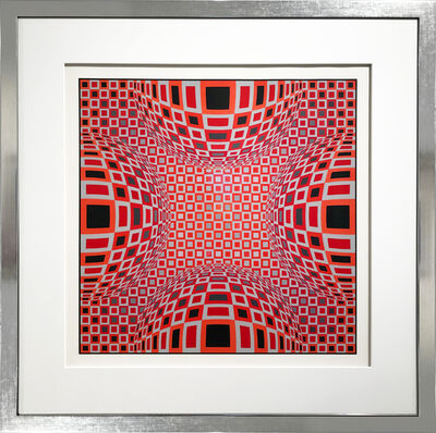 Victor Vasarely, 'Enigma - Four Red Spheres', 1980