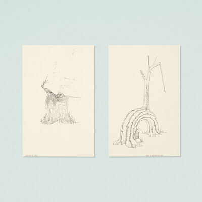 Ernesto Caivano, 'Creatures of Habit and Origin to Self-Reflective Trees (two works)', 2003