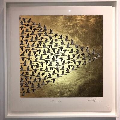 kelvin mann, 'Golden Geese', 2019