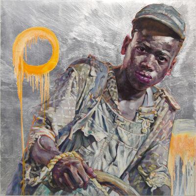 Hung Liu 刘虹, 'Plowboy-Silver', 2020