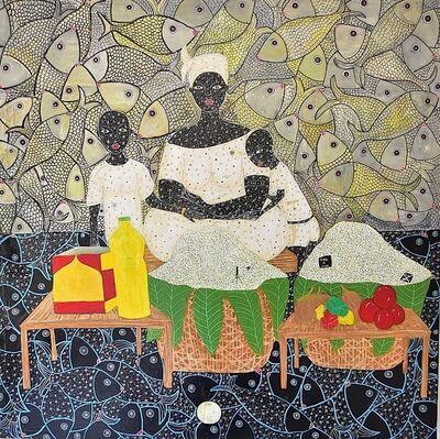 Henri Abraham Univers, 'Maman la vendeuse d'attieké (recette d'attieké poisson)', 2019
