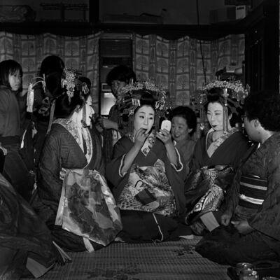 Toshio Enomoto, '081-Hanaougi Dayu, Takasago Dayu and Kasuga Dayu (left to right)', 1983