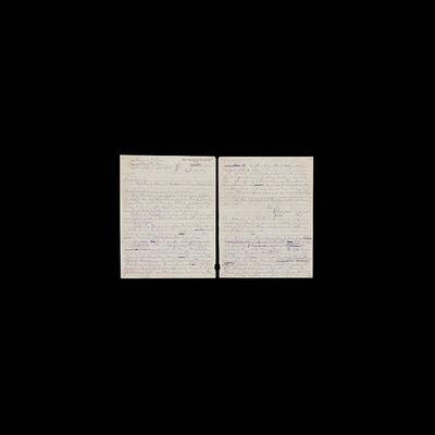 Taryn Simon, 'Black Square VIII, Ethel and Julius Rosenberg's Final Letter', 2011