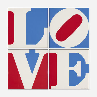 Robert Indiana, 'Four Panel Love', 1972