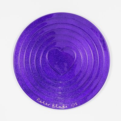 Peter Blake, 'Purple Target (metal flake)', 2017