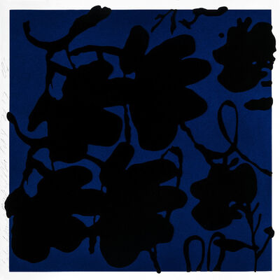 Donald Sultan, 'Lantern Flowers, Black and Blue', 2017