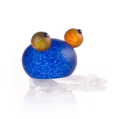 Borowski Glass, 'Frosch/Frog Paperweight: 24-01-53 in Blue', 2018