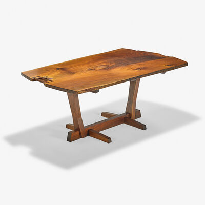 George Nakashima, 'Exceptional Conoid dining table, New Hope, PA', 1985
