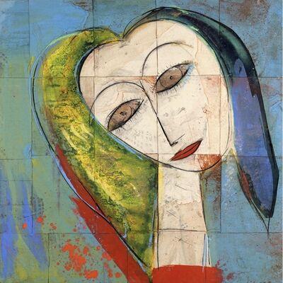 Jamali, 'Untitled - Blue background portrait ', 2012