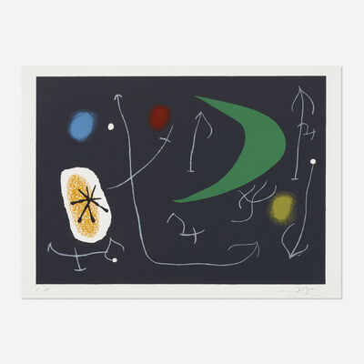 Joan Miró, 'Plate (folio 30) from Le Lezard aux plumes d'or (The Lizard with Golden Feathers)', 1971