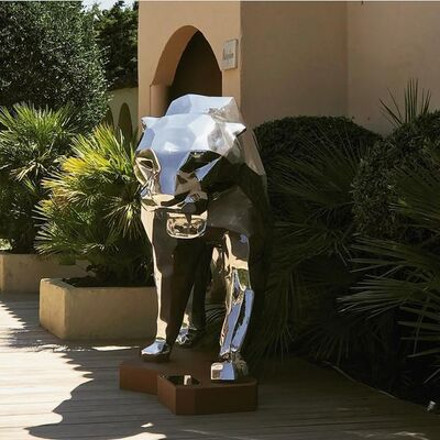 Richard Orlinski, 'Aluminium Panther', 2018