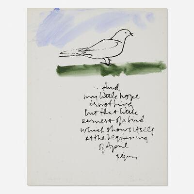 Corita Kent, 'Earnest of a bird', 1981