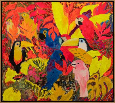 Hunt Slonem, 'Parrots', 1988