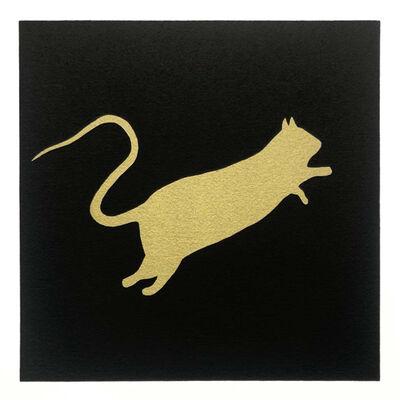 Blek le Rat, 'Rat doré (Black)', 2020