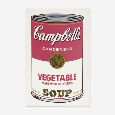Andy Warhol, 'Vegetable Soup Can from Campbell's Soup I', 1968
