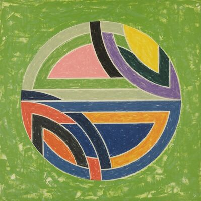Frank Stella, 'Sinjerli Variations Squared with Colored Grounds I-IV (Axsom 129-134)', 1981