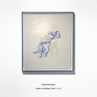 David Hockney, 'Celia in a Wicker Chair', 1974
