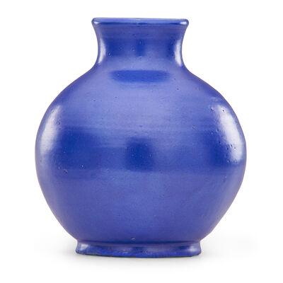 Pewabic Pottery & Ceramics, 'Bulbous cobalt blue vase'
