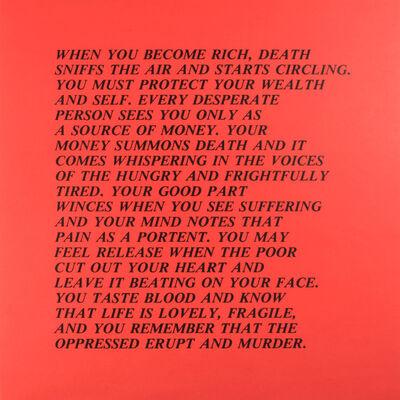 "Jenny Holzer, 'From the series ""Inflammatory Essays""', 1979-1982"