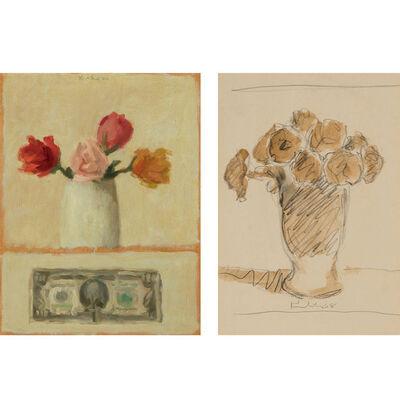 Robert Kulicke, '(i) Dollar Bill with Flowers; (ii) Untitled Still Life'
