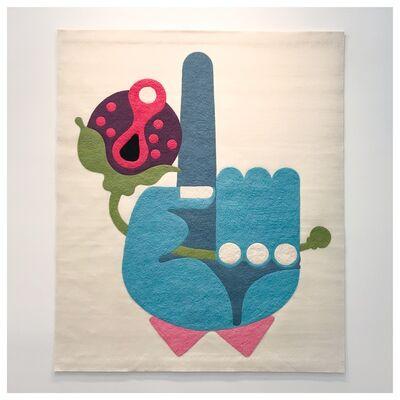 Edgar Orlaineta, 'Hand with flower', 2018
