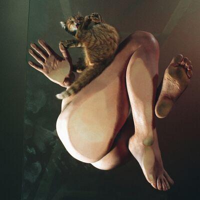 Michel Hosszu, 'MICHELLE ET LE CHAT', 1970
