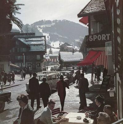 Slim Aarons, 'Gstaad Town Centre ', 1961